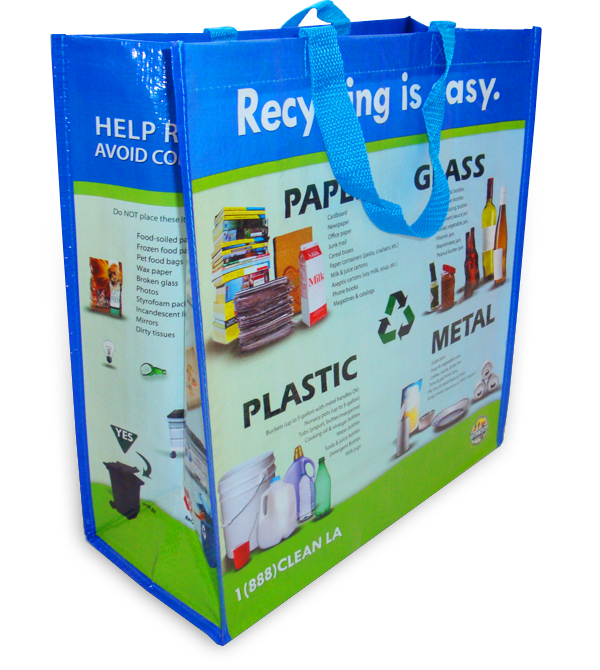 Municipality Recycling Idea - Reusable Recycling Bag