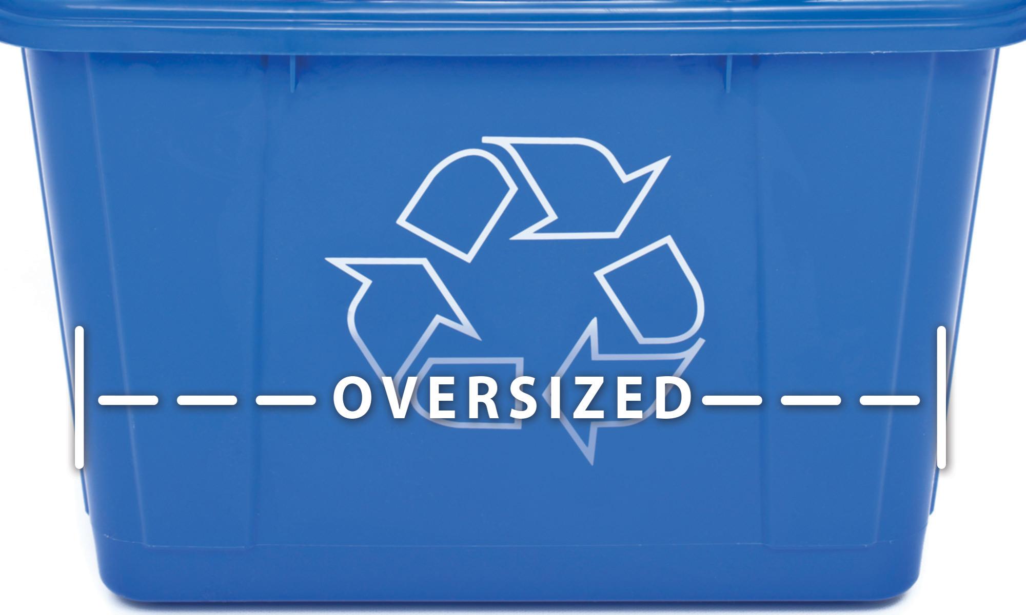 Recycling tote bin